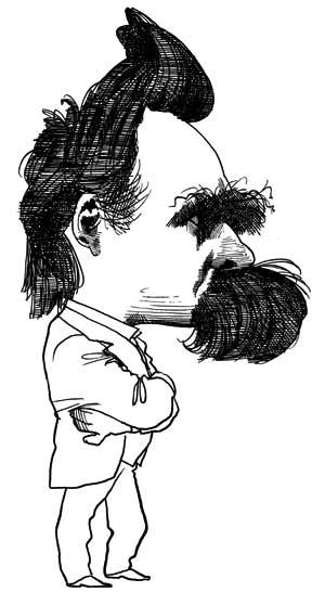 Resultado de imagem para nietzsche caricatura