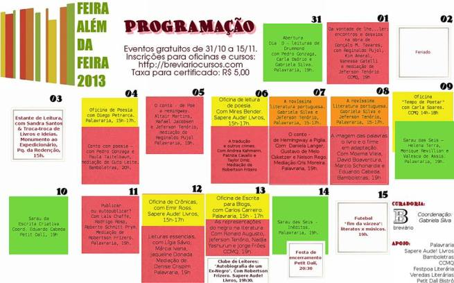 feira além da feira 2013 - progr
