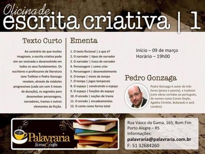Oficina de Escrita Criativa I - Pedro Gonzaga