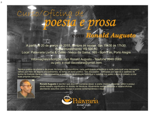 Oficina de Poesia e Prosa - Ronald Augusto prova 4