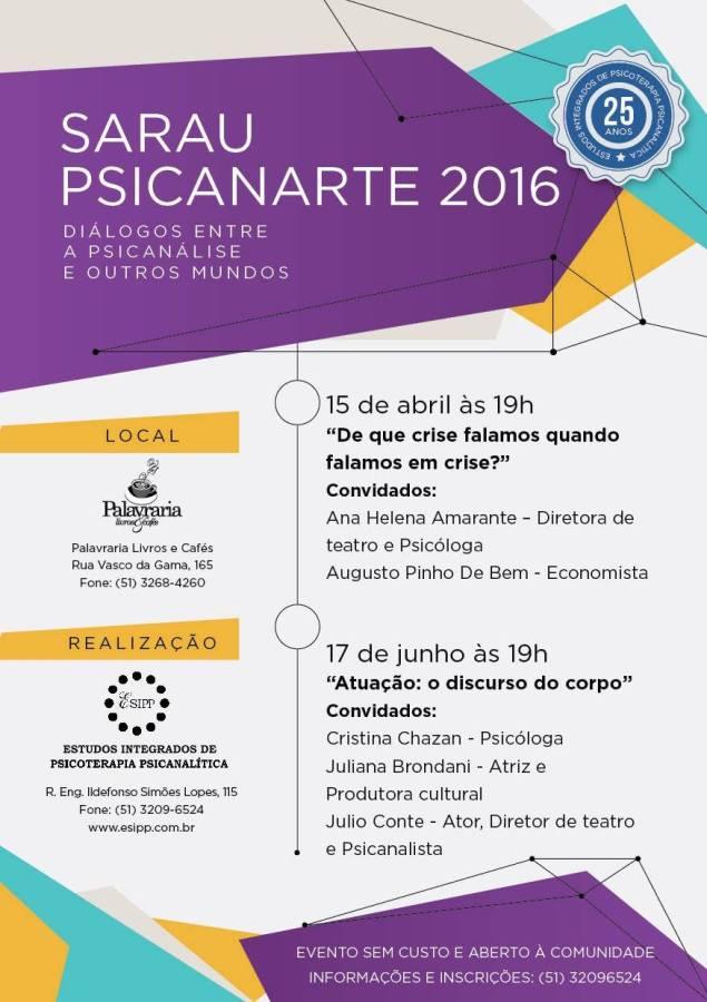 sarau psicanarte 2016